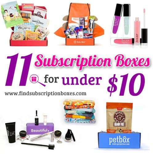 11 Subscription Boxes for Under $10