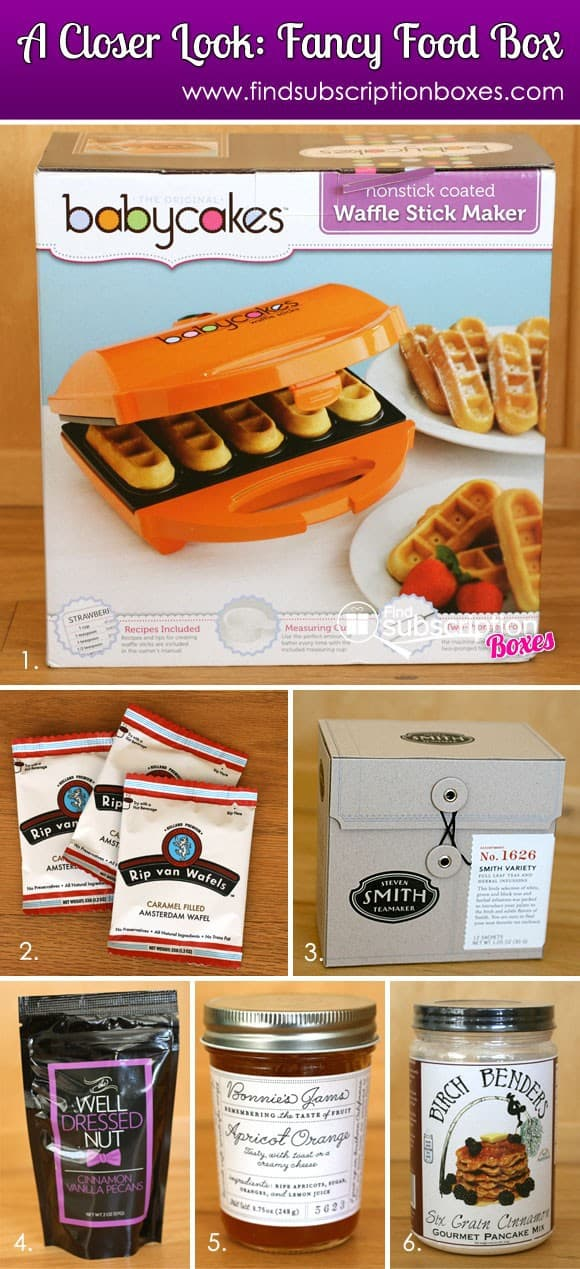 September 2013 Fancy Food Box Monthly Food Subscription Box Review