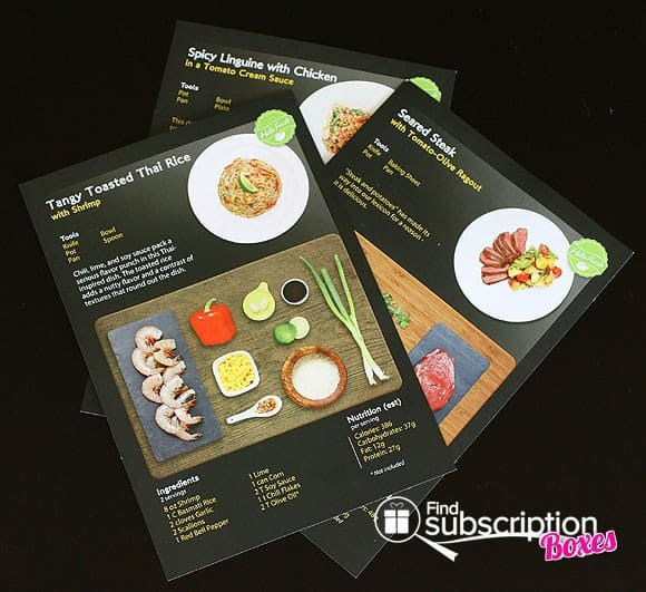 HelloFresh Food Subscription Box - Recipe Cards
