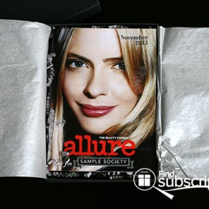 November 2013 Beauty Bar Sample Society Beauty Subscription Box - Allure Mini Mag