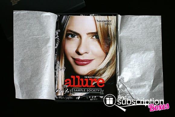 November 2013 Beauty Bar Sample Society Beauty Subscription Box - Allure Mini Mag