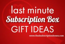 Subscription Box Last Minute Gift Ideas