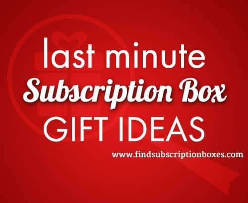 Subscription Box Last Minute Gift Ideas