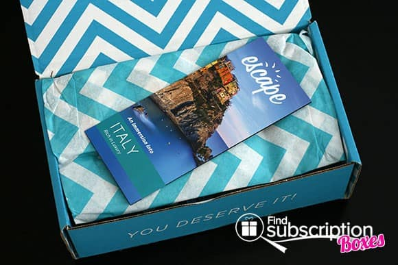 Opening the December 2013 Escape Monthly Destination-Themed Monthly Subscription Box