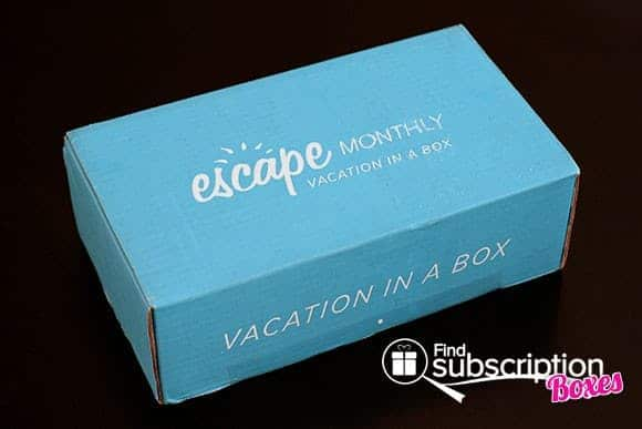December 2013 Escape Monthly Destination-Themed Monthly Subscription Box