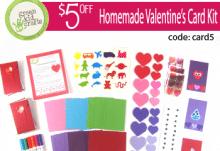 Green Kid Crafts Valentine's Card Kit