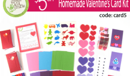 $5 Off Green Kid Crafts Homemade Valentine Card Kits with Code card5
