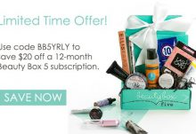 Save $20 Off Beauty Box 5