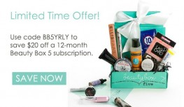 Save $20 Off 12-Month Beauty Box 5 Subscriptions with Code BB5YRLY