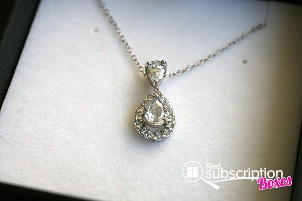 "February 2014 Cate & Chloe VIP Box Review - Tallulah ""Abundance"" Drop necklace"