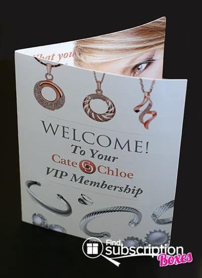 February 2014 Cate & Chloe VIP Box Review - Welcome Card