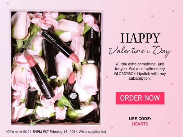 February 2014 GLOSSYBOX subscription Free Gift