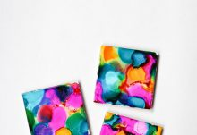 February Darby Smart Alcohol Ink Coasters