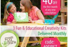 40% Off Green Kid Crafts