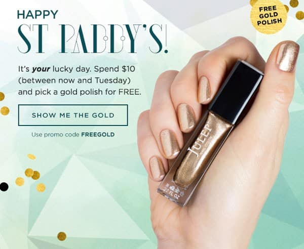 Julep Gold Polish Gift with Purchase