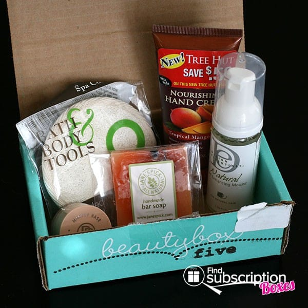 March 2014 Beauty Box 5 Box Review - Box Contents