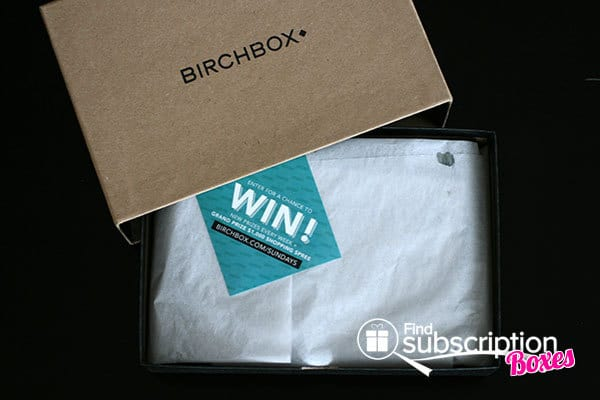 March 2014 Birchbox Man Box Review - Inner Box