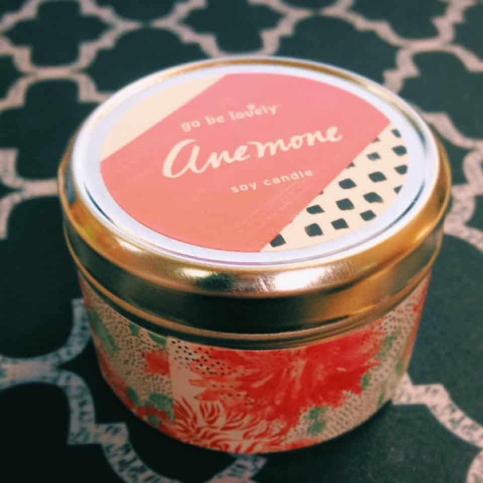 April 2014 BeautyBar Sample Society Box Spoiler - Illume Anemone Color Block Mini Tin