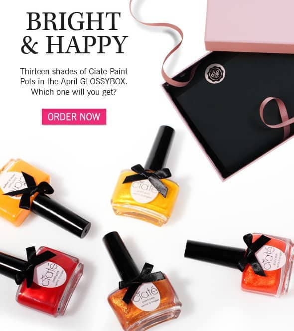 April 2014 GLOSSYBOX Spoiler - Ciate Paint Pots