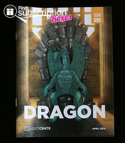 April 2014 Loot Crate Box Review - Dragon Mini Mag