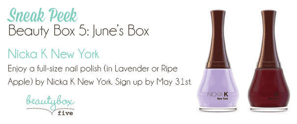 June 2014 Beauty Box 5 Spoilers