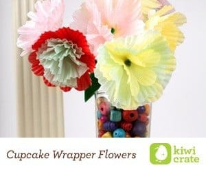 Kiwi Crate Cupcake Wrapper Flowers