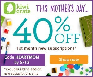 Kiwi Crate Mother's Day Save 40% Offer