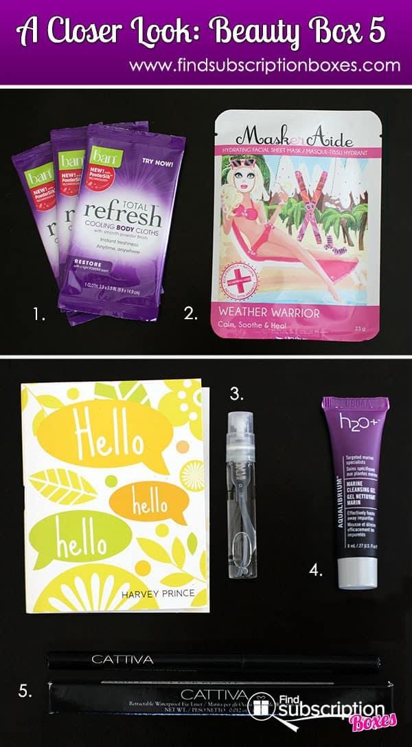 May 2014 Beauty Box 5 Box Review - Inside the Box