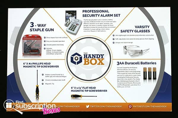 May 2014 The Handy Box Review - Product Card