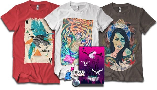 Threaded Canvasas Art T-Shirt Subscription Box