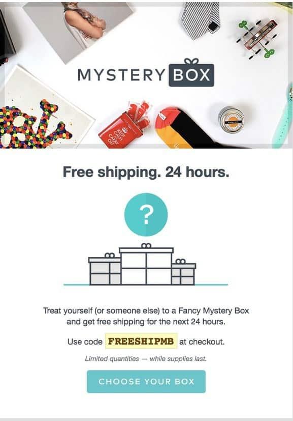 Fancy Mystery Box Free Shipping Sale