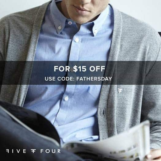 Five Four Club Father's Day Coupon