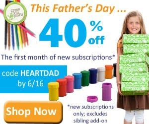 Green Kid Crafts Father's Day Sale - 40% Off