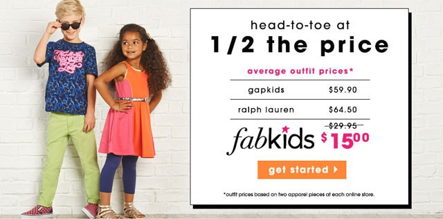 FabKids 50% Off 1st Outfit