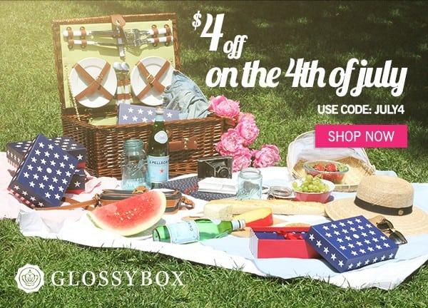 July GLOSSYBOX $4 Off Sale