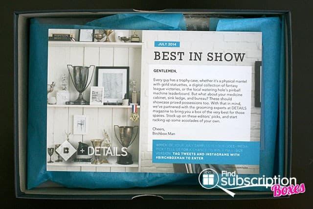 July 2014 Birchbox Man Box Review - Product Card