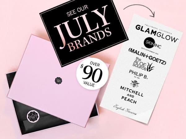 July 2014 GLOSSYBOX Brand Box Spoilers