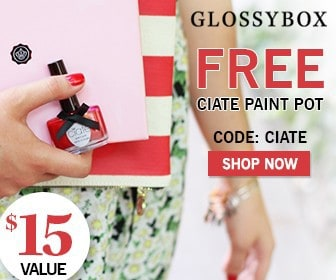 July 2014 GLOSSYBOX Free Gift - Ciate Nail Polish