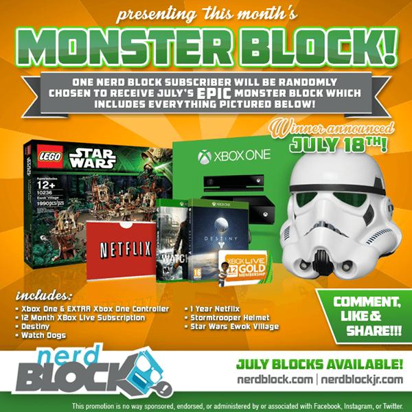 July 2014 Nerd Block Monster Block