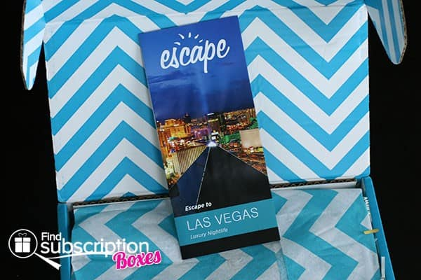 June 2014 Escape Monthly Box Review - Product Flyer