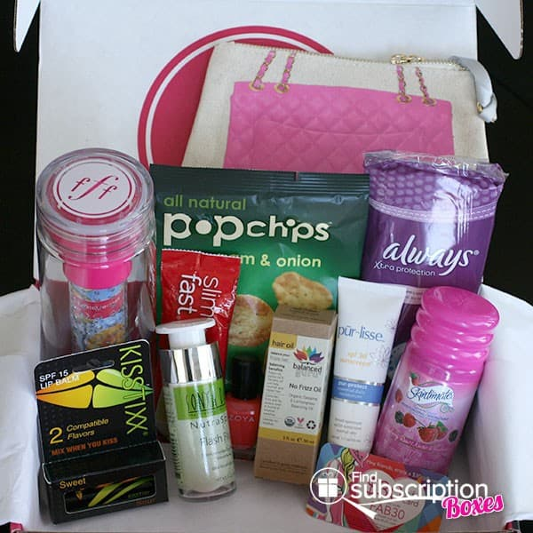 Summer 2014 FabFitFun VIP Box Review - Box Contents