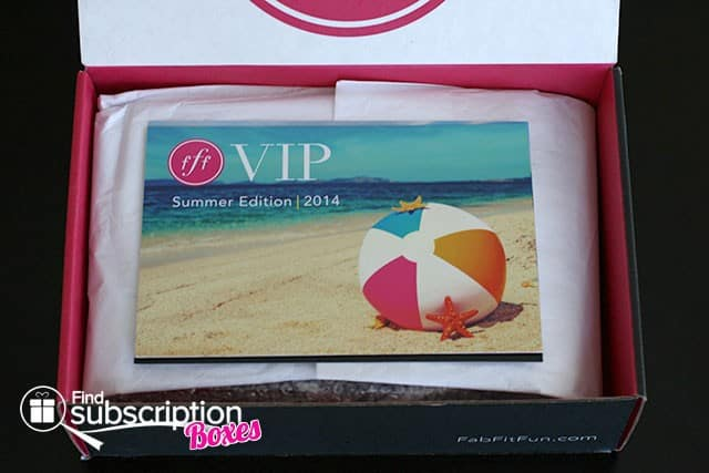 Summer 2014 FabFitFun VIP Box Review - Product Card