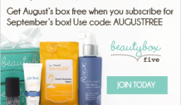 FREE Beauty Box 5 August Box with Code AUGUSTFREE