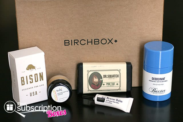 August 2014 Birchbox Man Box Review - Box Contents
