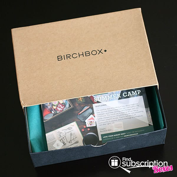 August 2014 Birchbox Man Box Review - Inner Box & Product Card