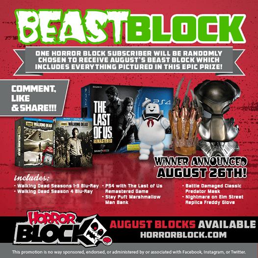 August 2014 Horror Block Beast Block