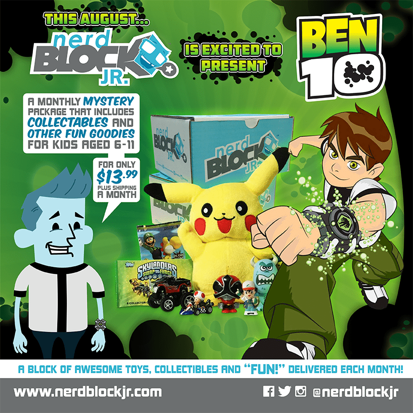 August 2014 Nerd Block Jr. Boys Box Spoilers - Ben 10