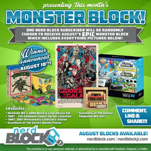 August 2014 Nerd Block Monster Block
