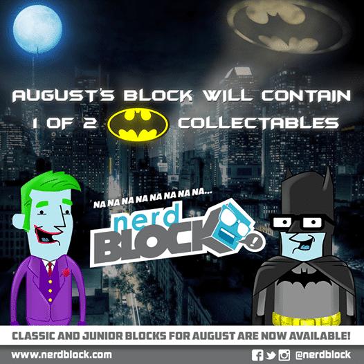August 2014 Nerd Block Box Spoilers - Batman