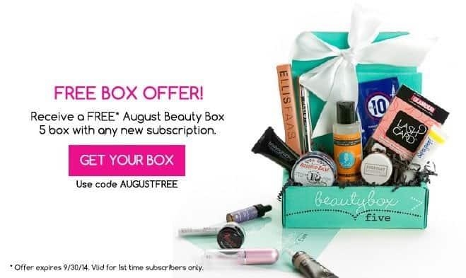 Beauty Box 5 FREE August Box